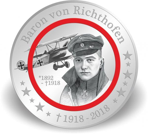 """1000 CFA Kongo """"Baron von Richthofen"""" Polymer CN-Ag PP 2018"""