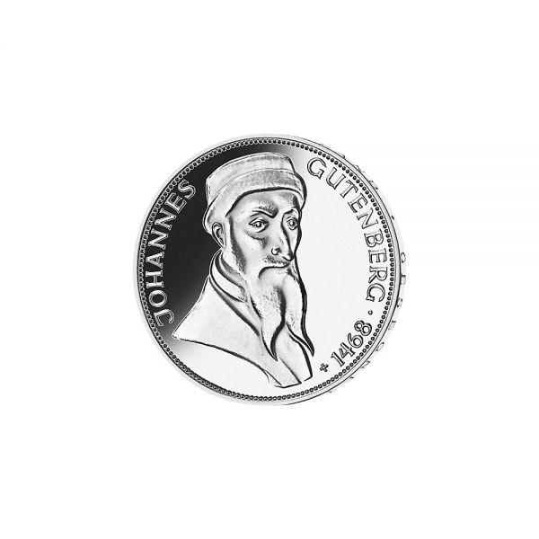 5 DM Gutenberg 1968 Silber St