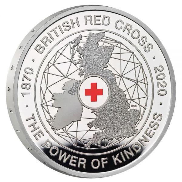 5 Pfund GB 150 J. Britisches Rotes Kreuz 2020 Silber PP