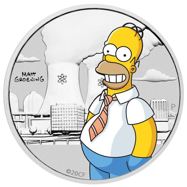 50 Ct. Tuvalu The Simpsons™ - Homer 2020 Silber St