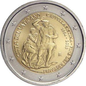2 Euro Vatikan Restaurierung der Sixtinischen Kapelle 2019 CN St