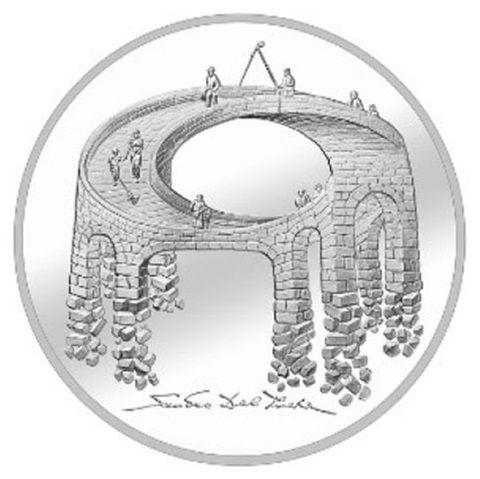 20 CHF Schweiz Illusion Viadukt des Lebens 2021 Silber St