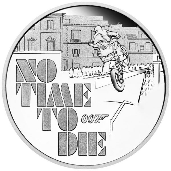 1 Dollar Tuvalu James Bond - No Time to Die 2020 Silber PP