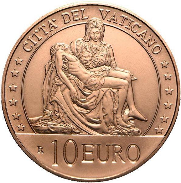 10 Euro Vatikan Michelangelo - Pietà 2020 Kupfer St
