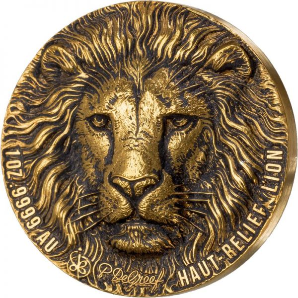 100 Francs Elfenbeinküste Big Five - Greef Lion 2020 Gold AF