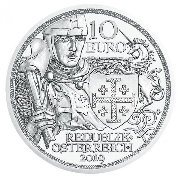 """10 € Österreich """"Abenteuer"""" 2019 Silber hgh"""