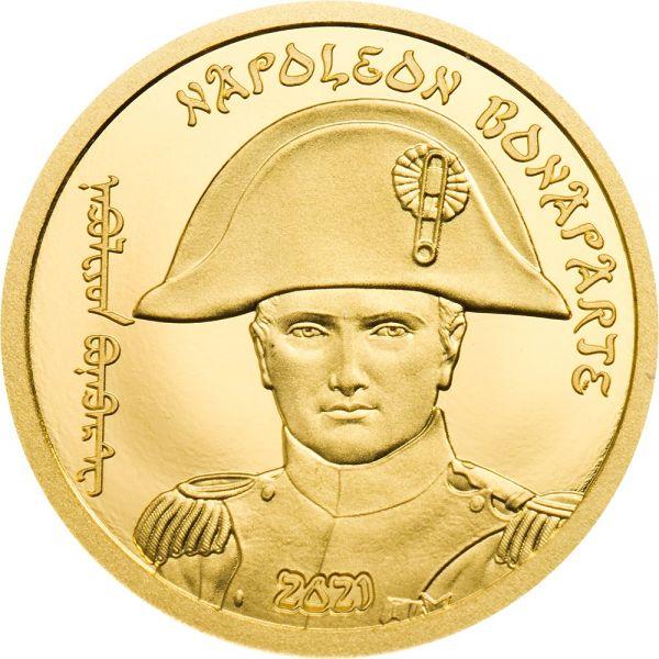 1000 Togrog Mongolei Napoleon Bonaparte 2021 Gold PP