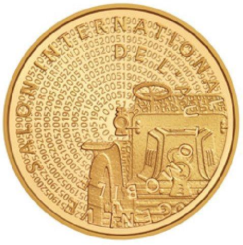 """50 CHF Schweiz """"Automobilsalon Genf"""" 2005 Gold PP"""