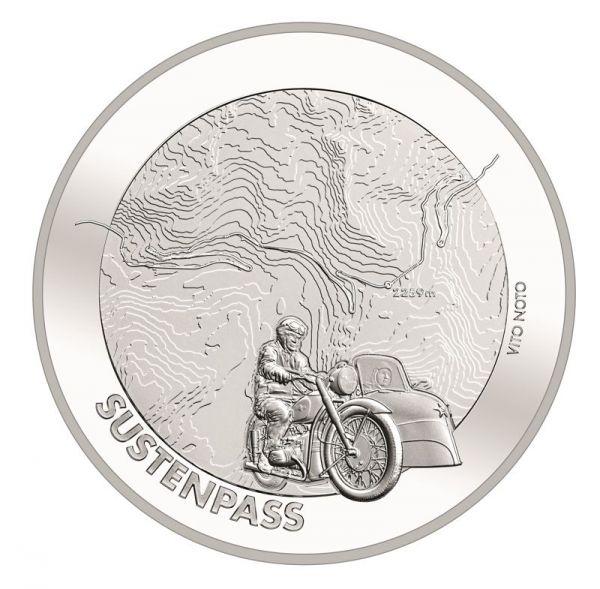 20 CHF Schweiz Sustenpass 2020 Silber St