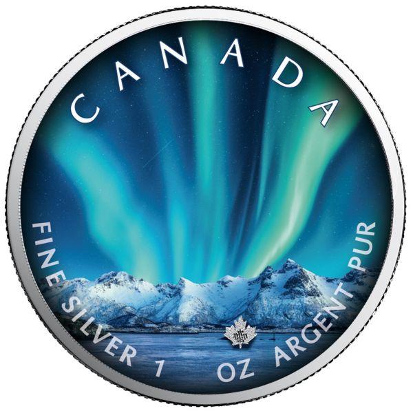 5 Dollar Kanada Polarlichter - Jasper Nat. Park 2020 Silber St