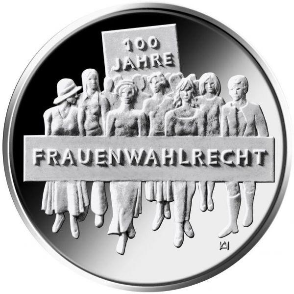 """20 € DE """"100 Jahre Frauenwahlrecht"""" 2019 Silber PP -D-"""
