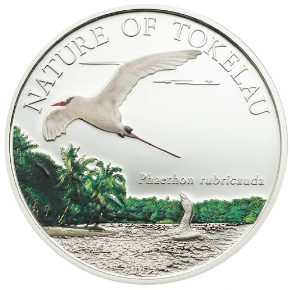 1 Dollar Nature of Tokelau - Tropicbird 2012 CuNiAg PP