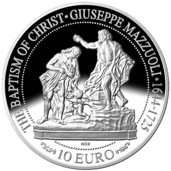 "10 Euro Malta ""Rokoko & Barock - Taufe Christi"" 2018 Silber PP"
