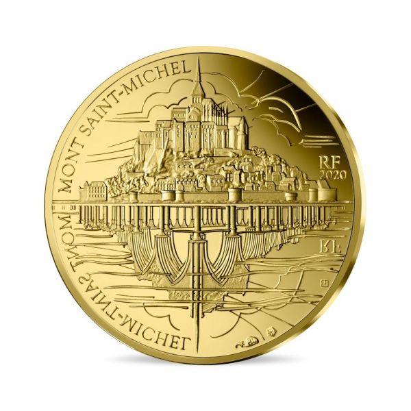 50 Euro Frankreich Die Drei Berge Mt. St.-Michel 2020 Gold PP
