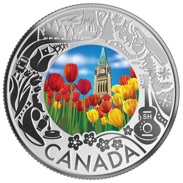"""3 $ Kanada """"Kan. Feste - Tulpen"""" 2019 Silber PP"""