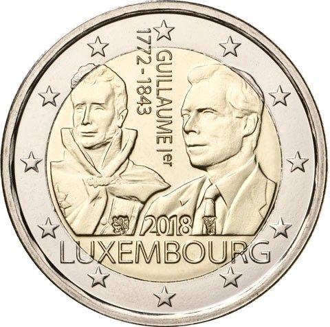 """2 € Luxemburg """"175. Todestag Großherzog Guillaume I."""" 2018 CN bfr"""