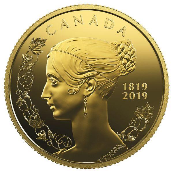 """10 $ Kanada """"200. Geburtstag v. Queen Victoria"""" 2019 Gold PP"""