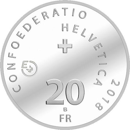 """20 CHF Schweiz """"Dampfschiff La Suisse"""" 2018 Probe St"""