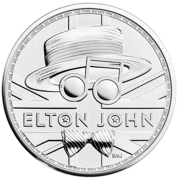 2 Pfund GB Elton John - Musiklegenden 2021 1oz Silber St