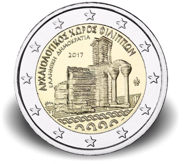 """2 € Griechenland """"Archäologische Anlagen von Philippi"""" 2017 CN bfr"""