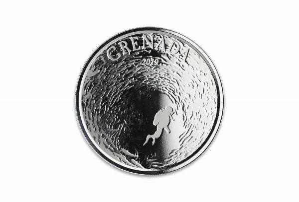 2 Dollar Grenada Tauchparadies 2019 Silber St