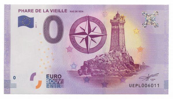 """0 € Banknote """"Leuchtturm Phare de la Vielle"""" druckfrisch"""