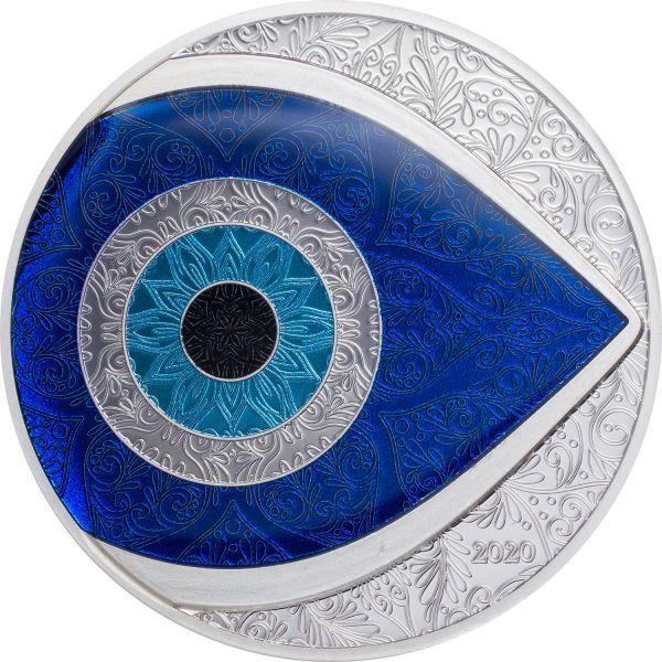 5 Dollar Palau Türkisches Auge 2020 Silber PP