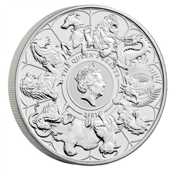 5 Pfund GB Queen's Beasts Collection - Completer Coin 2021 CN St