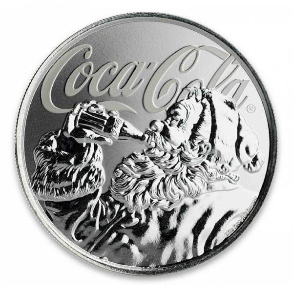"1 Dollar Fiji ""Coca-Cola - Holiday Coin"" 2019 Silber St"