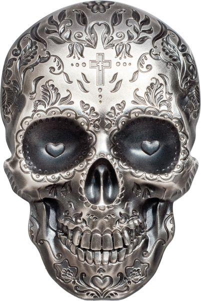 "5 $ Palau ""La Catrina Skull"" 2018 Silber AF"