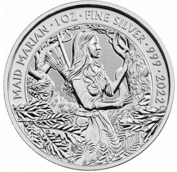 2 Pfund GB Maid Marian - Mythen + Legenden 2022 Silber St