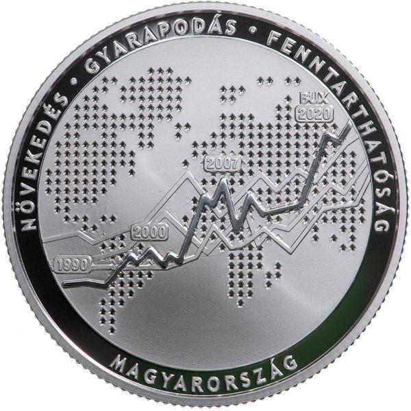 10000 Forint Ungarn 30 Jahre Börse 2020 Silber PP