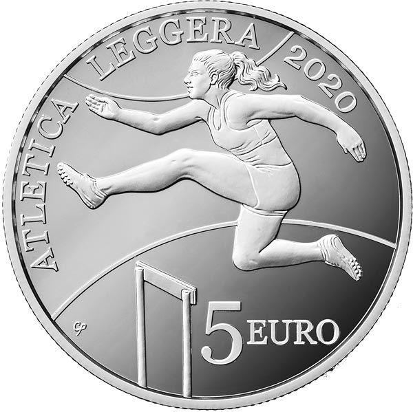 5 Euro San Marino Leichtathletik 2020 Silber PP