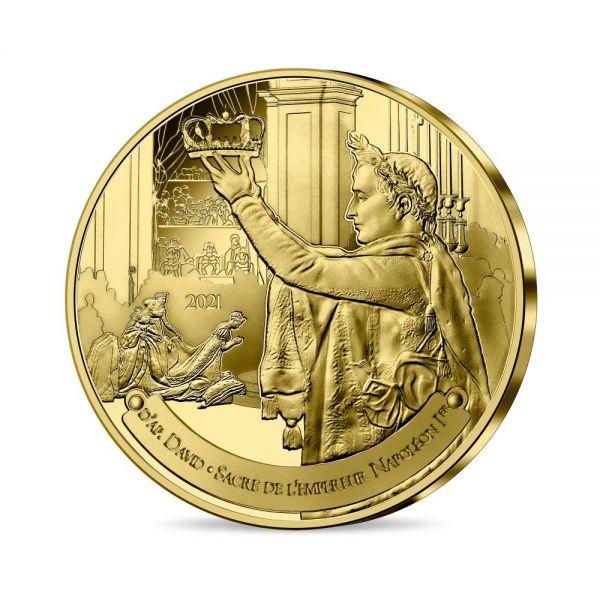1/4 Euro Frankreich Louvre - Krönung Napoleons 2021 CN St