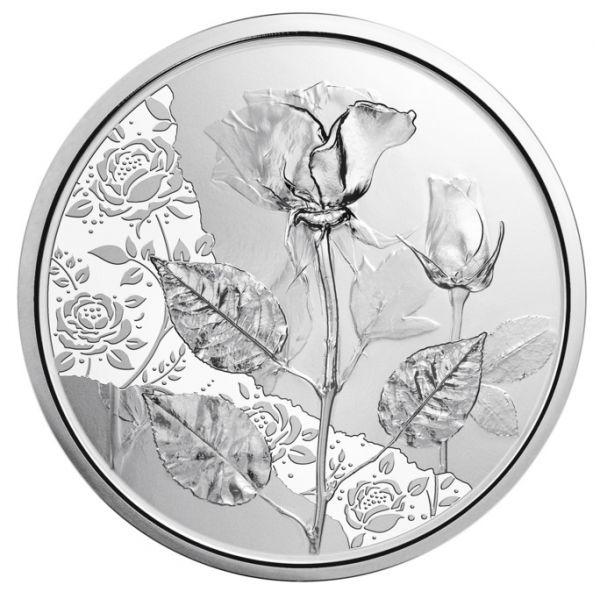 10 Euro Österreich Die Rose 2021 Silber hgh