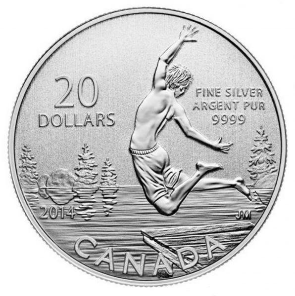 20 Dollar Kanada Sommerzeit 2014 Silber St