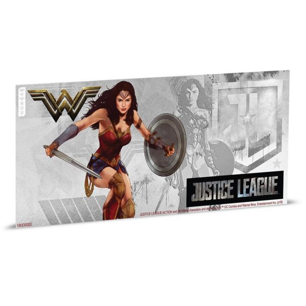 "1 Dollar Niue ""Justice League - Wonder Woman"" Banknote 2018 Ag St"