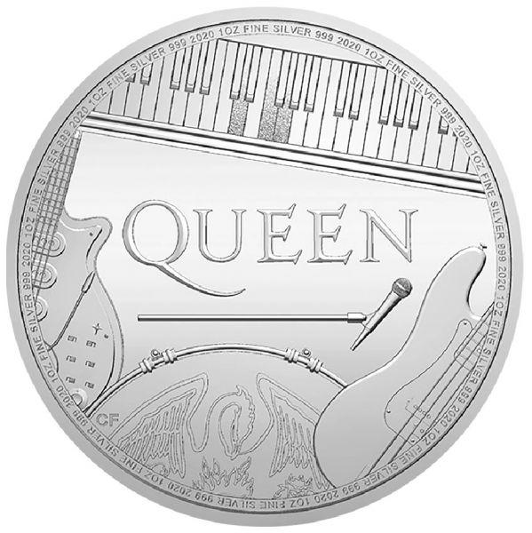 2 Pfund GB Queen - Musiklegenden 2020 1oz Silber St