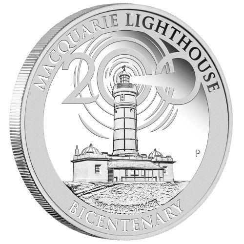 """1 $ Australien """"200 J. Macquire Leuchtturm"""" 2018 1oz Silber PP"""