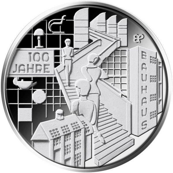 """20 € DE """"100 Jahre Bauhaus"""" 2019 Silber PP -J-"""