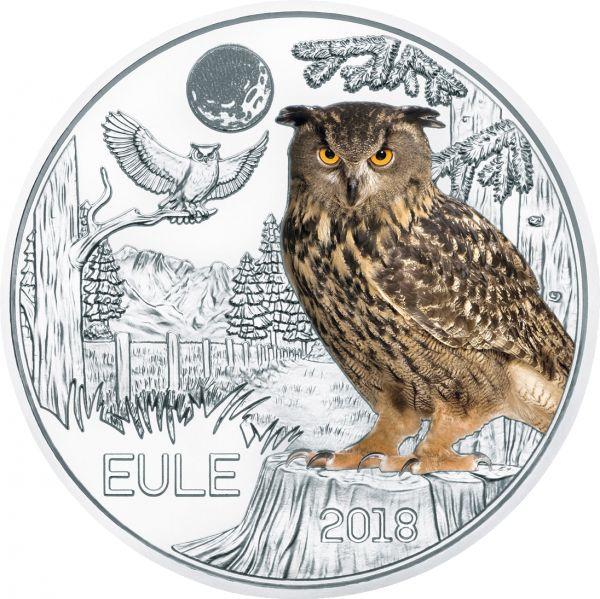 """3 € Österreich """"Tiertaler - Eule"""" 2018 Buntmetall hgh"""