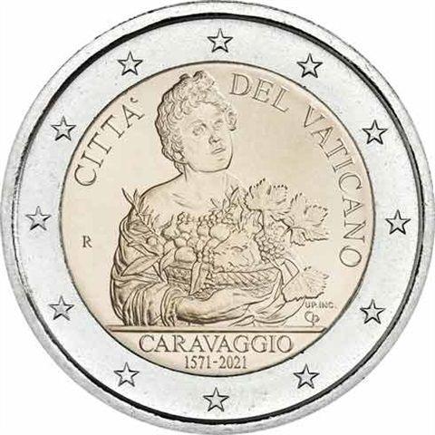2 Euro Vatikan 450. Geburtstag von Caravaggio 2021 CN St