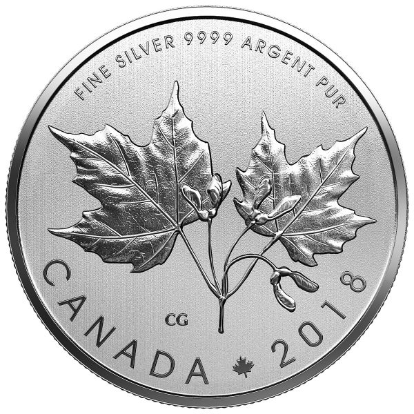 """10 $ Kanada """"Ahornblätter"""" 2018 Ag St - Blister"""