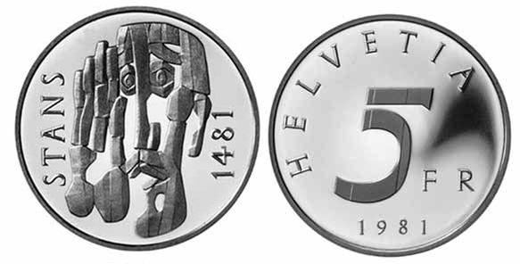 5 CHF Stanser Verkommnis 1981 CuNi PP