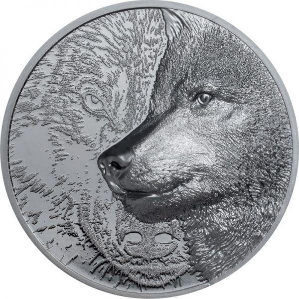 1000 Togrog Mongolei Mystic Wolf 2021 2oz Silber PP