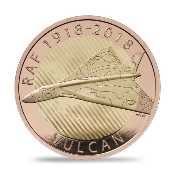 "2 £ Großbrit. ""Royal Air Force - Vulcan"" 2018 Gold PP"