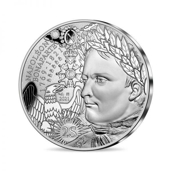 10 Euro Frankreich 200. Todestag Napoleon 2021 Silber St