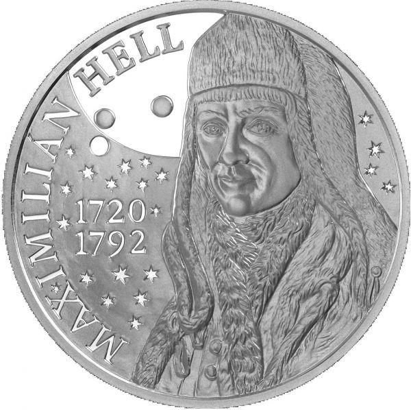 10 Euro Slowakei 300. Geb. Maximilian Hell 2020 Silber PP