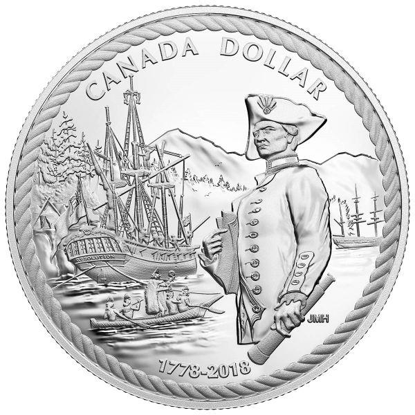 """1 $ Kanada """"Capt. Cook - Entdeckung Nootka Sound"""" 2018 Ag PP"""