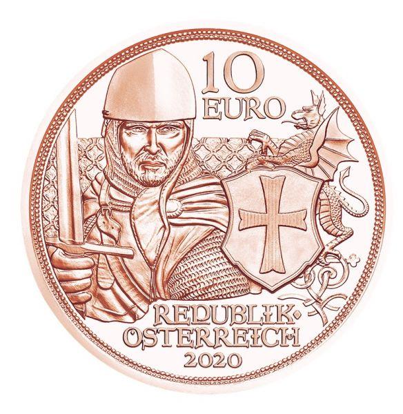 10 Euro Österreich Tapferkeit 2020 Kupfer vz